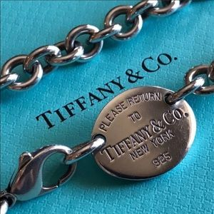 Tiffany & Co Authentic Silver Oval Chained Choker